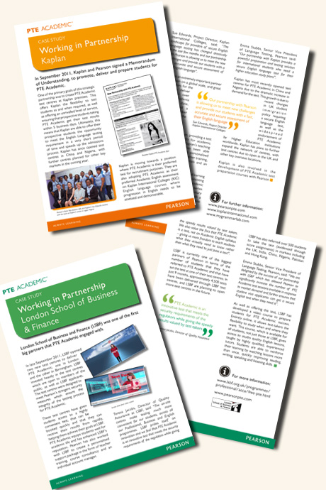 Sunflower designed case studies for Pearson PTE